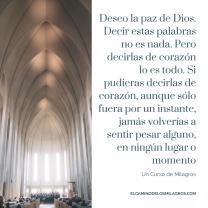 Deseo la paz de Dios